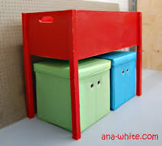 ana white classic red toybox with legs diy projects
