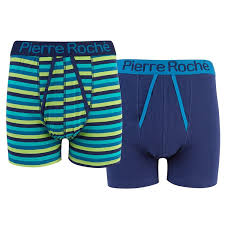 100 Roche2 Pierre Roche Mens 2 Pack A Front Boxer Shorts Underwear At Amazon