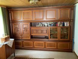 schrankwand wohnzimmer wohnwand schrank vitrine bar möbel