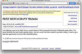 Craigslist Post Offers Next Season Ticket To Michelin - Eater Autonation Buick Gmc Laurel Dealership Near Me Chevrolet Ck Truck For Sale Nationwide Autotrader Chrysler Dodge Ford Hyundai Jeep Kia Lincoln And Eatsie Boys Food Up Grabs On Craigslist Eater Houston Serving Rockville Washington Dc Baltimore In Silver Spring Garys Auto Sales Sneads Ferry Nc New Used Cars Trucks Anyone Have Photos Of 97 Tj Blue Paint Colors Wrangler Forum Carmax For By Owner Available Cleaning Out Your Closet Heres Where To Get Rid Just About Anything Diesel Smart Virginia Fredericksburg Va Radley