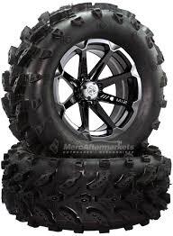 100 14 Inch Truck Tires MSA M12 Diesel ATV UTV Rims On Swamp Lite 28 Tire For Polaris