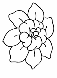 Coloring Pages Draw Easy Flowers