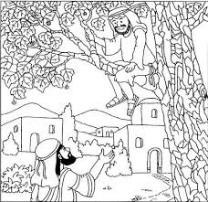 Zacchaeus Climbs Tree To See Jesus Picture Printable