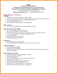 Resume Objective Examples For Physical Therapist Massage