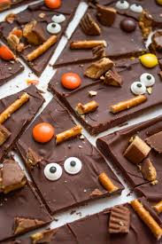 Healthiest Halloween Candy 2015 by Spooky Halloween Candy Bark What Molly Made