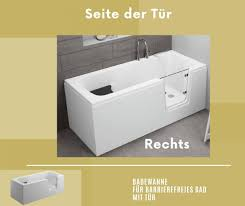 badewanne für barrierefreies bad mit tür rechts und