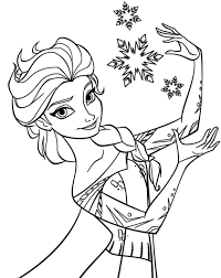Frozen Elsa Coloring Pages Free Printable For Kids Best Drawing