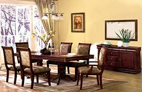 7 Pc St Nicholas I In A Cherry Wood Finish Rectangular Dining Table Set