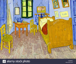 bedroom in arles by vincent gogh 1889 stock photo alamy