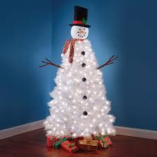 Illuminated Snowman Christmas Tree