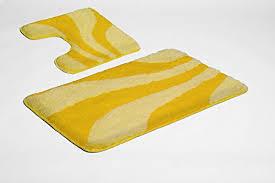 gelb wc vorleger und weitere badtextilien günstig