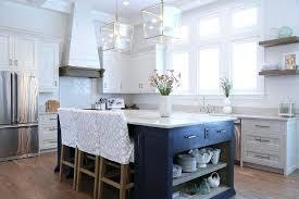 Blue Kitchen Island Navy With Open Shelves Cart