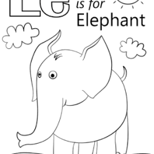 Letter E Is For Elephant Coloring Page Free Printable Pages