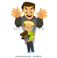 A thief steals a kidnapped child Children kidnapping concept stealing kidnapped Vector illustration