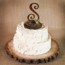 I Love This Wooden Monogram Cake Topper Rustic Wedding Cakes