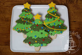 Hand Decorated Christmas Tree Cookies