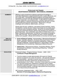 Maintenance Or Mechanical Engineer Resume Template Want It Download