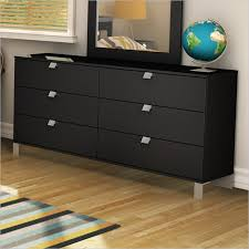 south shore spark 6 drawer dresser in pure black 3270010