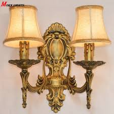 free shipping antique bronze wall sconce light fashion bedroom