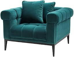 casa padrino luxus samt sessel meergrün schwarz 102 x 98 x h