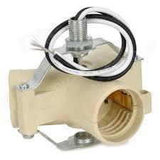 e27 base light l bulb socket 3 splitter adapter beige