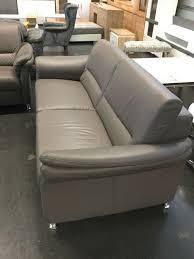 couchgarnitur leder polinova mokka 3 3 sofa wohnzimmer