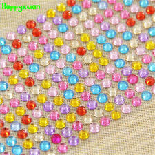 Happyxuan 5 Sheets 260pcs 6mm Mosaic Crystal Diamond Stickers Children DIY Handmade Art Craft Materials Girls