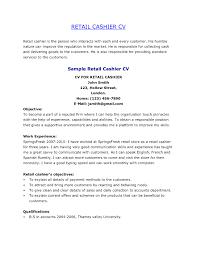 Sample Resume Of Cashier Customer Service Best Resumes Casino