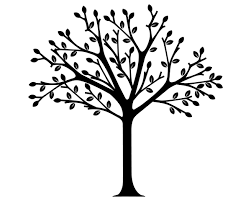 Tree Clip Art Black and White