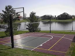 Backyard Basketball Court Dimensions | Design And Ideas Of House Amazing Ideas Outdoor Basketball Court Cost Best 1000 Images About Interior Exciting Backyard Courts And Home Sport X Waiting For The Kids To Get Gyms Inexpensive Sketball Court Flooring Backyards Appealing 141 Building A Design Lover 8 Best Back Yard Ideas Images On Pinterest Sports Dimeions And Of House