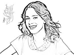 Violetta Coloring Pages For Kids Simple