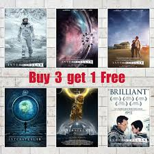 Interstellar Movie Posters High Definition White Coated Paper Printed Decorative Painting For Livingroom Dining Room