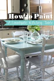 How To Paint A Laminate Kitchen Table From Confessions Of Serial Do It