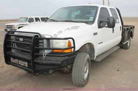 100 F350 Ford Trucks For Sale 2001 Super Duty Crew Cab Flatbed Truck Item H159