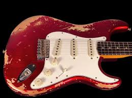 2018 Fender Stratocaster 1969 Custom Shop 69 Strat Heavy Relic Candy Apple Red