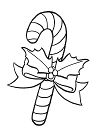 Download Coloring Pages Candy Cane Free Printable Print 9344