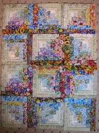 Floral Fabric Log Cabin You Won t Need Patience It s Addictive