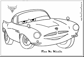 Fantastic Cars Coloring Pages With Lightning Mcqueen Page