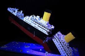 ryan mcnaught s lego model of the sinking titanic abc news