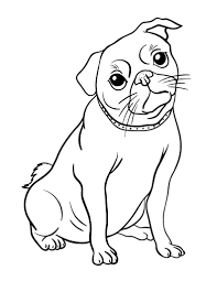 Printable Pug Coloring Page Free PDF Download At Coloringcafe