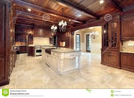 100 Wood Cielings Upscale Kitchen With Ceilings Stock Photo Image Of