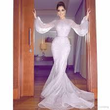sheath beaded long sleeveless jewel mermaid elegant evening