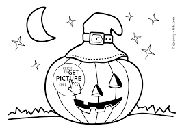 Halloween Jack Olantern Coloring Pages For Kids Printable Free
