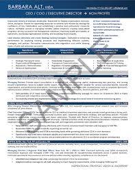 Executive Resume Sample Non Profit CEO