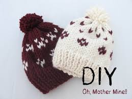 DIY o hacer gorros de lana con dos agujas