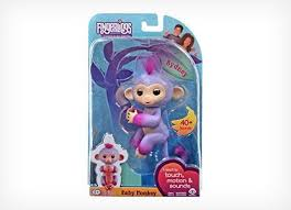 Fingerlings Interactive Baby Monkey Two Tone Sydney