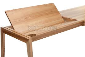 Hermen Solid Oak Wood Extendable Dining Table