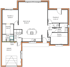 plan maison plain pied 2 chambres plan maison plain pied 1 chambre plan maison plain pied en l m plan