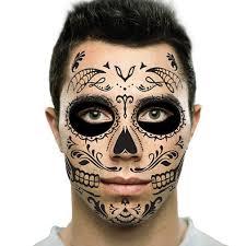 Easy Sugar Skull Day Of by Amazon Com Black Web Sugar Skull Day Of The Dead Temporary Face