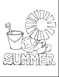 Coloring Pages Summer For Kids Printable Proven Remarkable
